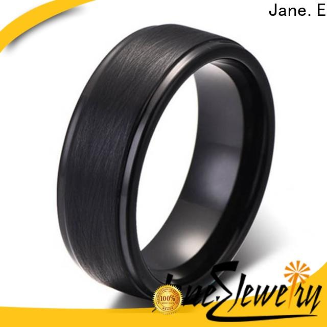 JaneE shiny polished tungsten carbide ring price exquisite for engagement