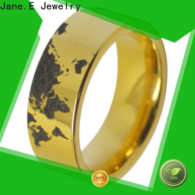 JaneE multi colors mens wedding bands wood inlay exquisite for gift