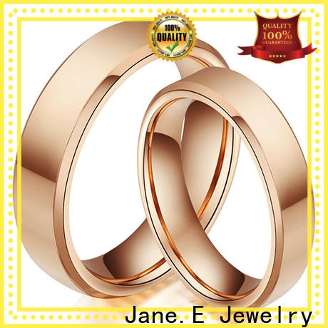 JaneE multi colors wood tungsten ring matt for engagement