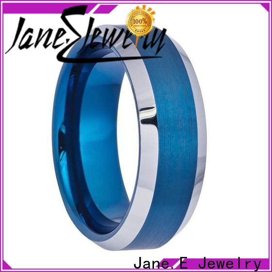 multi colors wood tungsten ring two tones matt for engagement