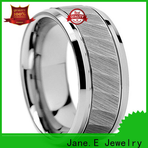 unique design tungsten rings for her koa wood exquisite for engagement