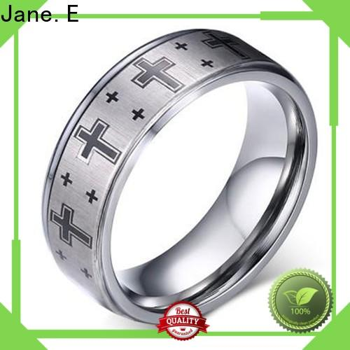 JaneE multi colors tungsten carbide gold ring exquisite for gift