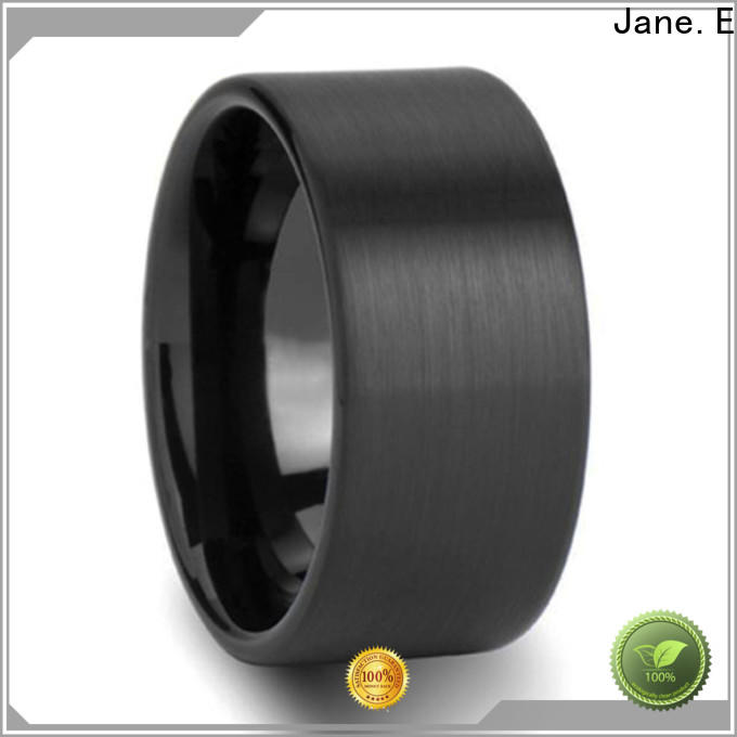 JaneE two tones tungsten carbide ring price exquisite for wedding
