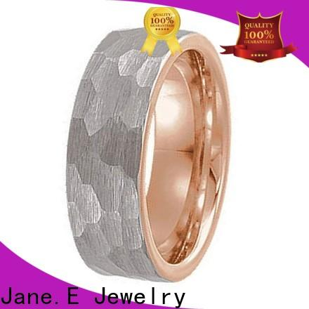 shiny polished 6mm tungsten men's wedding band red opal exquisite for engagement