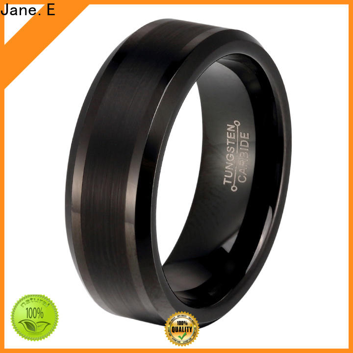 JaneE multi colors mens wedding bands wood inlay exquisite for engagement