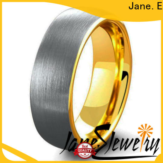 JaneE multi colors tungsten carbide mens wedding ring exquisite for gift