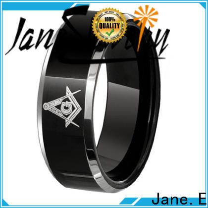 traditional black wedding rings for men koa wood engraved for gift