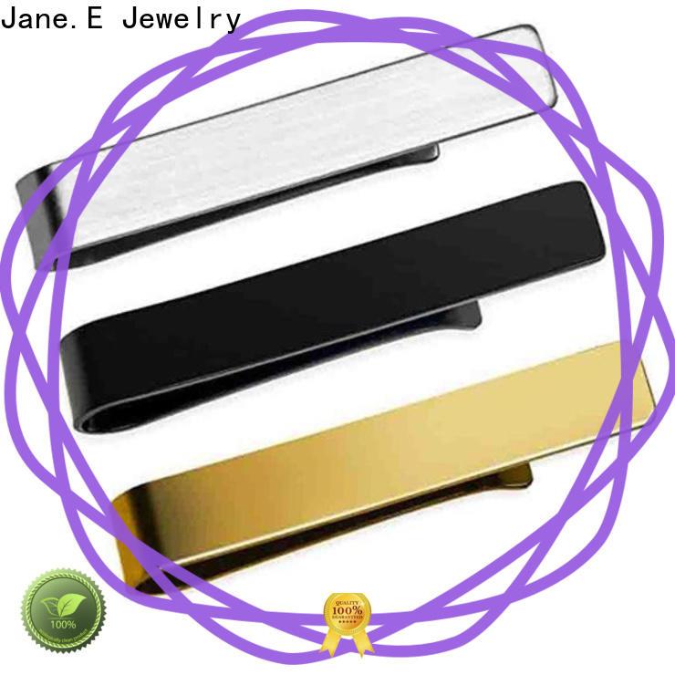 JaneE koa wood stainless steel cufflink luxury supplier