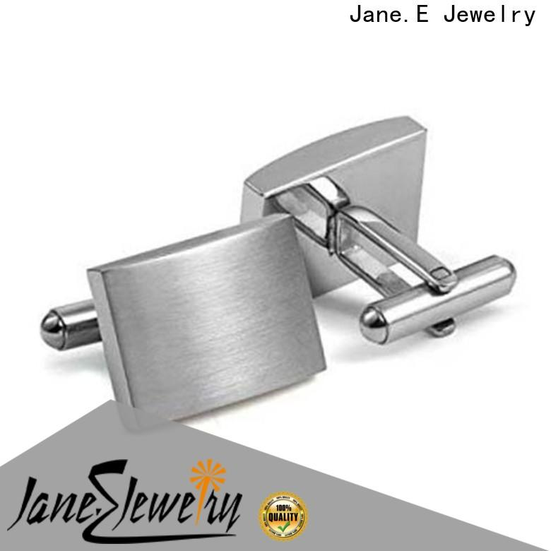 JaneE silver engrave cufflinks fashion for gifts