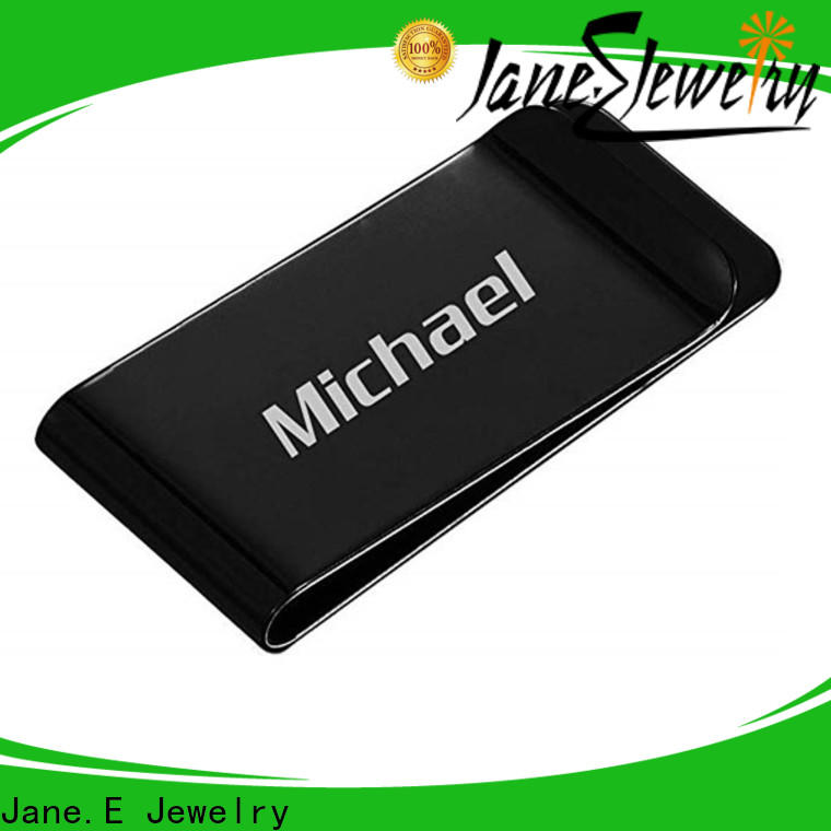 JaneE high-end polishing mens money clip personalized for men's wallet