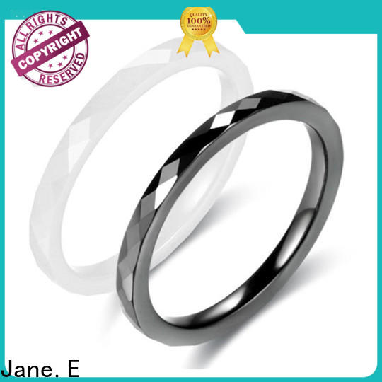 fashion mens black ceramic ring white exquisite for inlay