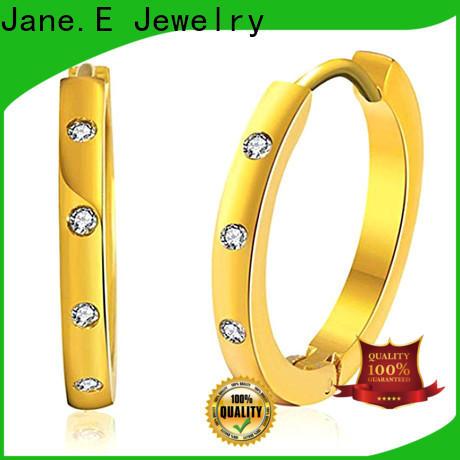JaneE cuff hoop hypoallergenic earrings comfortable for women