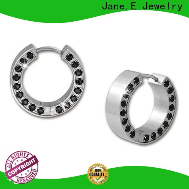 JaneE hypoallergenic stainless steel hoop earrings durable for women