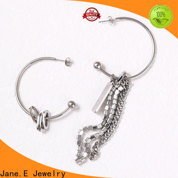 round surgical stainless steel earrings high polished customized for decoration