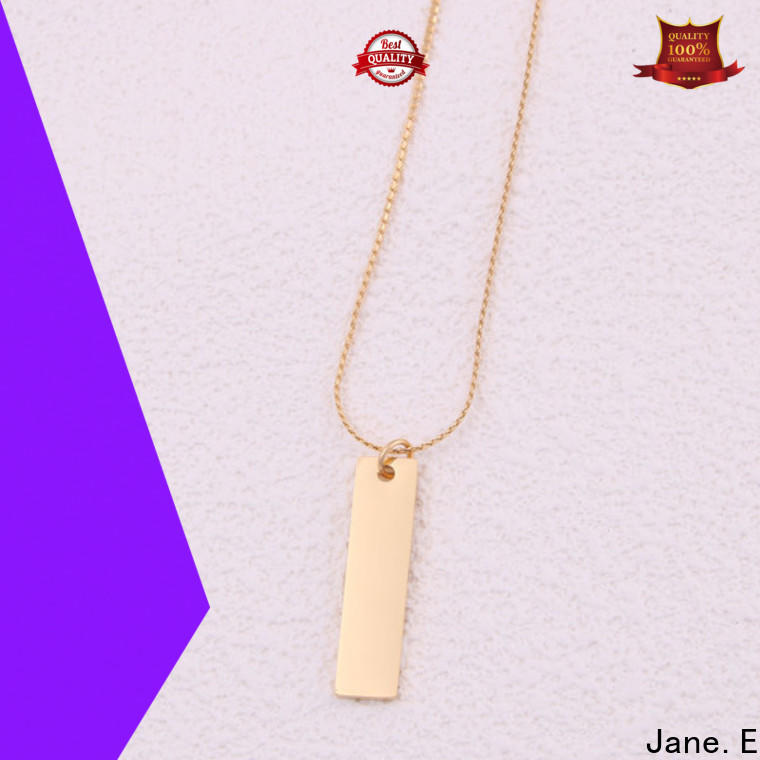 JaneE classic stainless steel personalized necklace manual polished for decoration