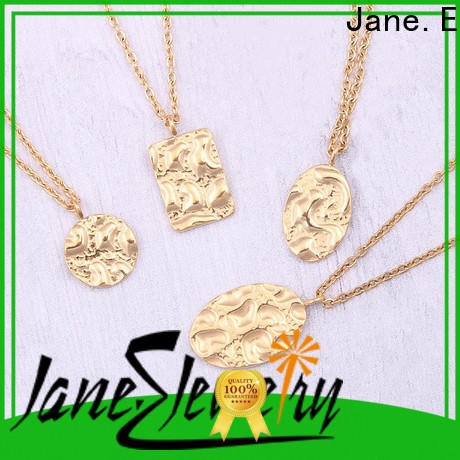 JaneE brushed surface stainless steel diffuser necklace manual polished manufacturer