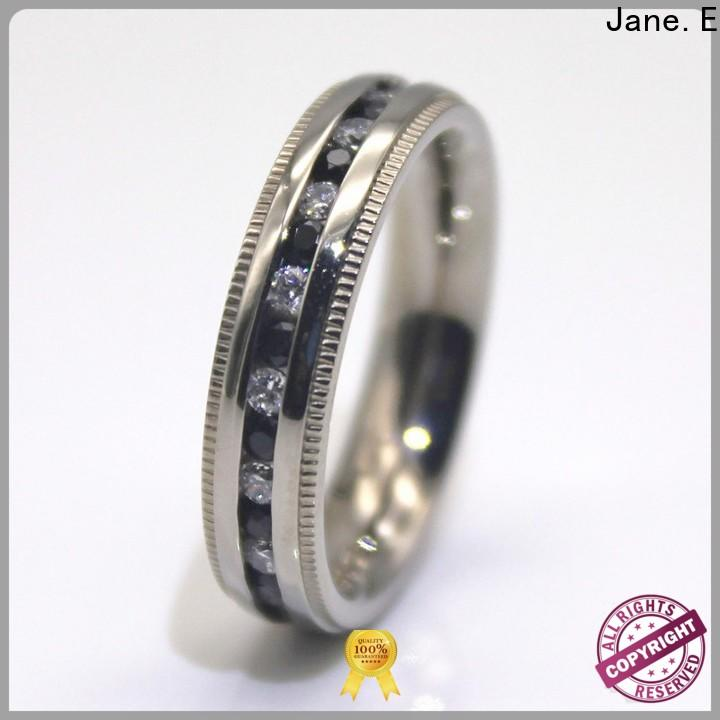 JaneE factory direct women's stainless steel rings fashion design for decoration