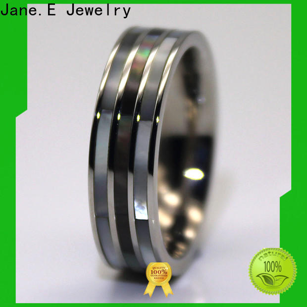 JaneE square edges stainless steel ring blanks top quality for decoration