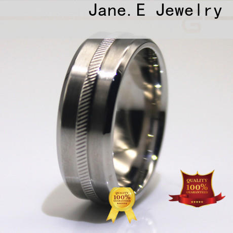 customized stainless steel cz rings milgrain fashion design for decoration