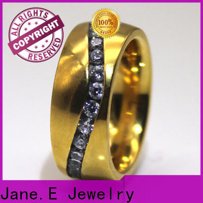 JaneE square edges men's wedding band top quality for men