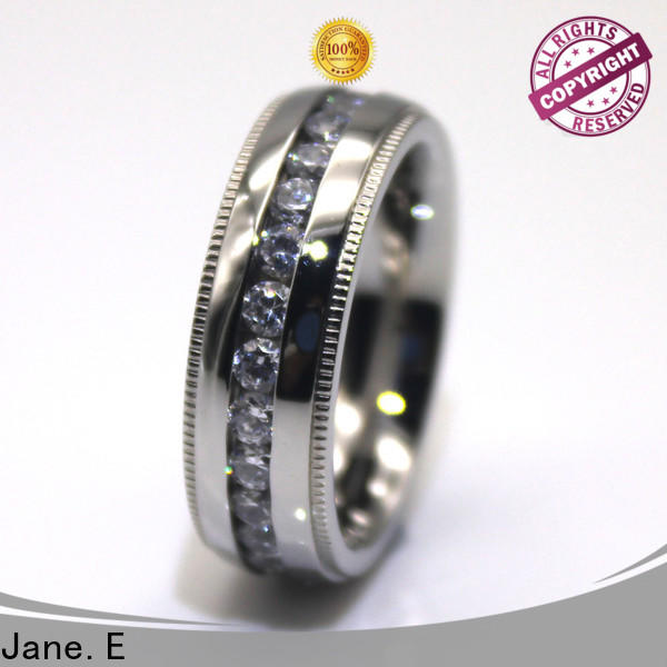JaneE customized hammered steel ring multi colors for decoration