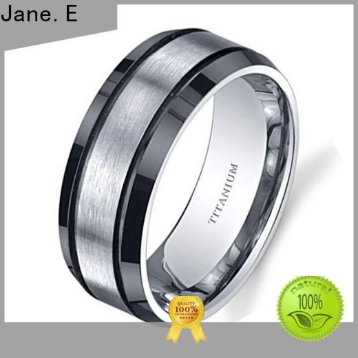 sparkle sandblasting custom black titanium rings for wood crafts wholesale for wedding