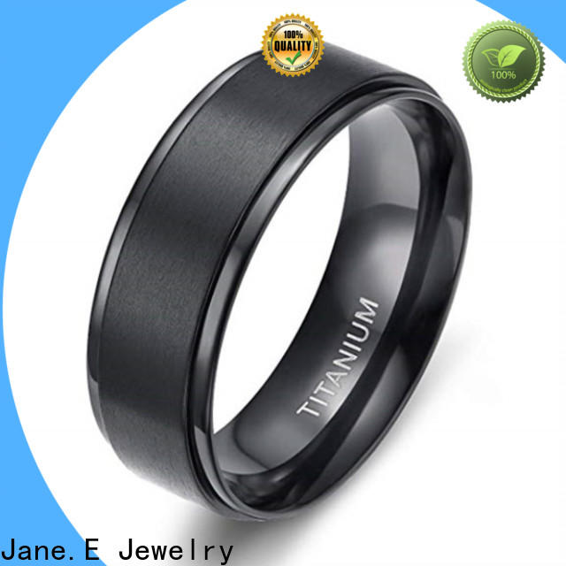 JaneE koa custom black titanium rings factory direct for engagement
