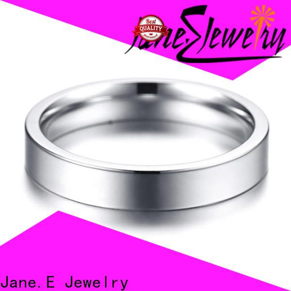 shiny men's wedding band 316l steel fashion design for weddings