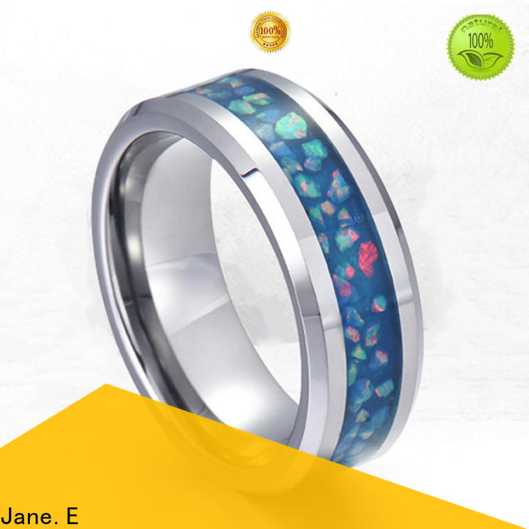 shiny stainless steel wedding band 316l steel multi colors for men