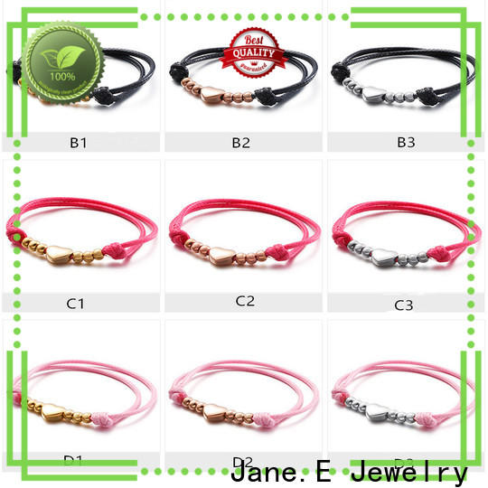 JaneE fashion women's stainless steel bracelets customized for decoration
