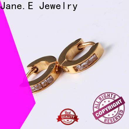 JaneE exchangeable stainless steel hoop earrings OEM for decoration