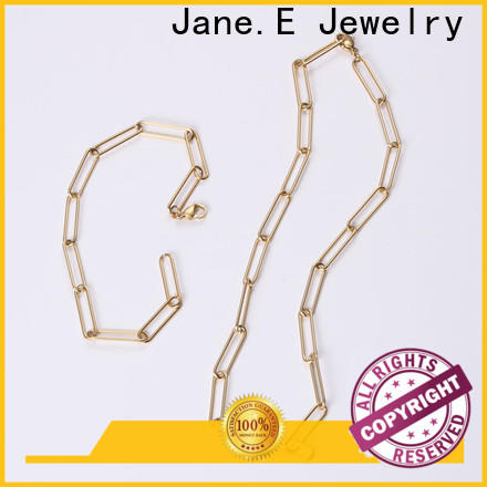JaneE letter engraved black stainless steel necklace different dimension for gift