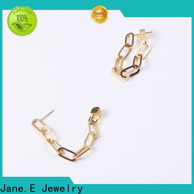 JaneE hypoallergenic 316l stainless steel earrings ODM for decoration