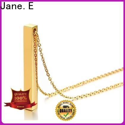 JaneE polished surface mens stainless steel necklace factory direct for decoration