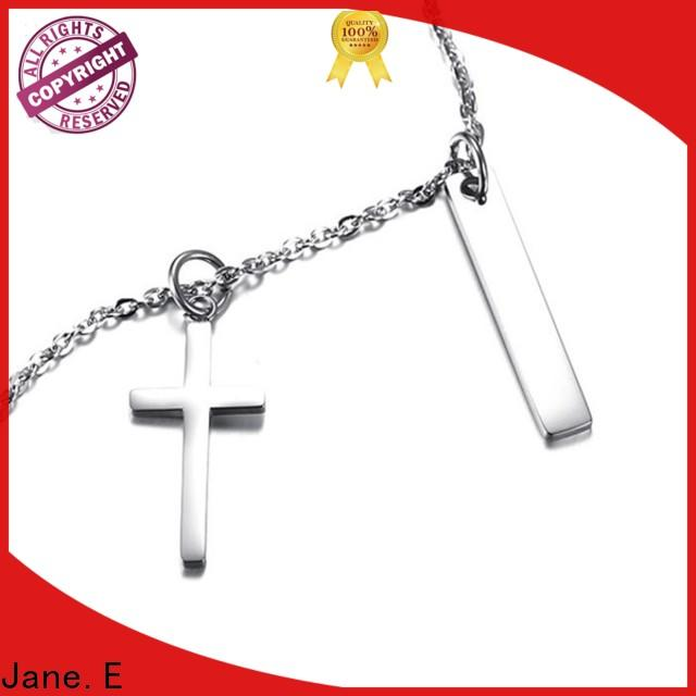 JaneE aromatherapy stainless necklace manual polished for gift