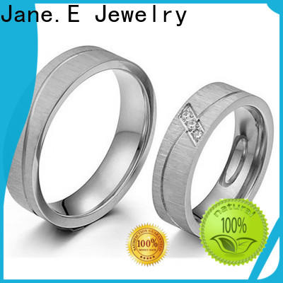 JaneE factory direct stainless steel promise rings for her multi colors for decoration