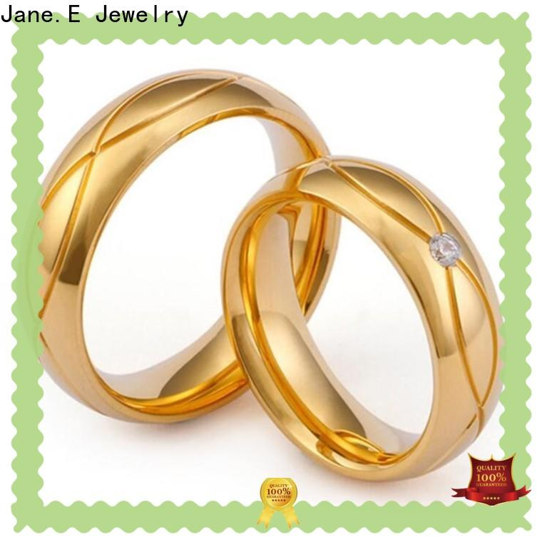 JaneE brown stainless steel ring blanks comfortable for decoration