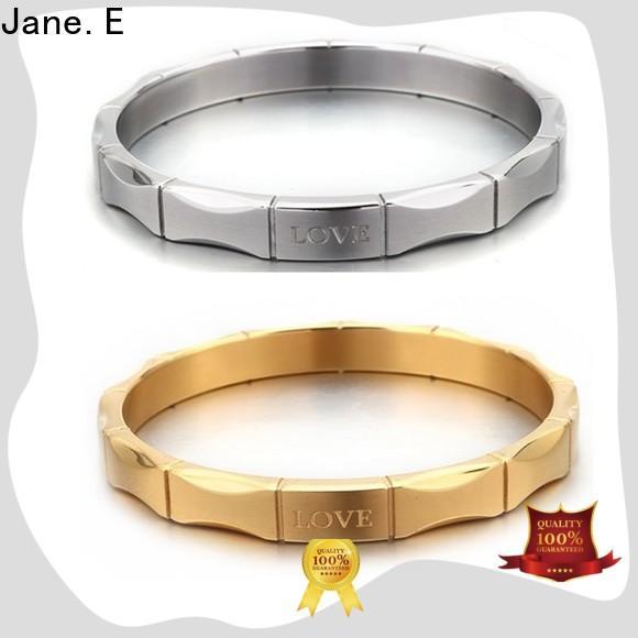 mirror polished custom bracelets leather factory for engagement