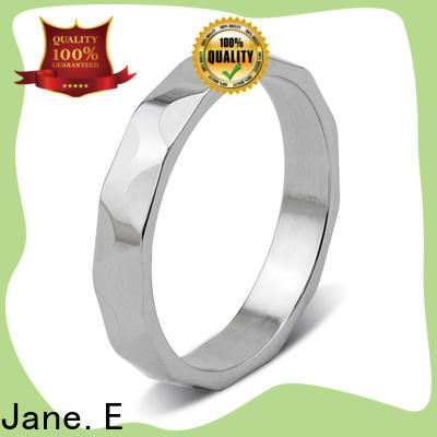 customized stainless steel promise rings for him plating fashion design for decoration
