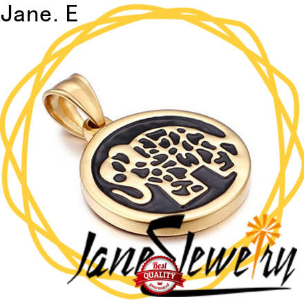 JaneE high quality stainless steel pendant leather chain for festival gifts