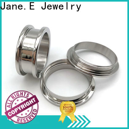 JaneE black tungsten band rings popular design for women