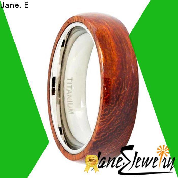 JaneE white ceramic titanium rings for men all size for handcrafts works