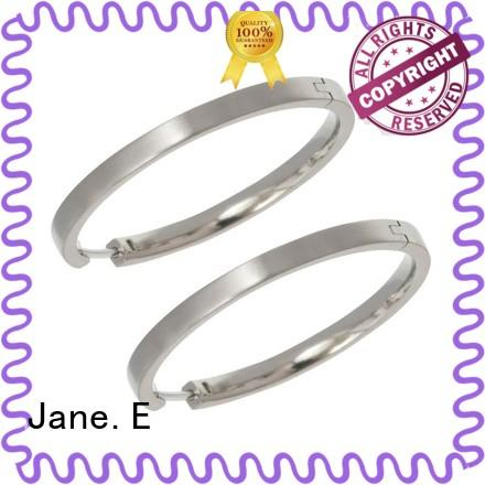 JaneE rainbow surgical grade titanium earrings classic style for gift