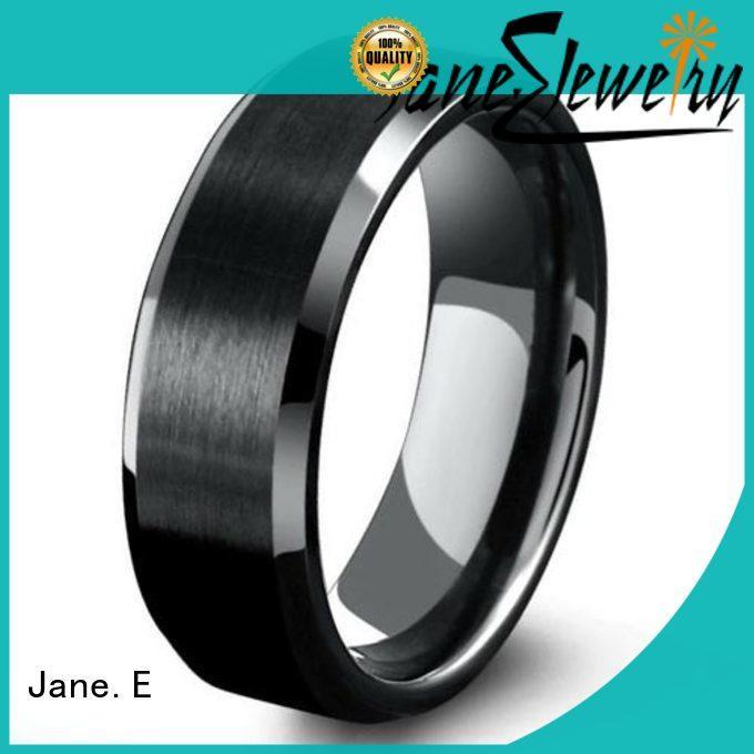 JaneE unique design tungsten carbide ring price exquisite for wedding