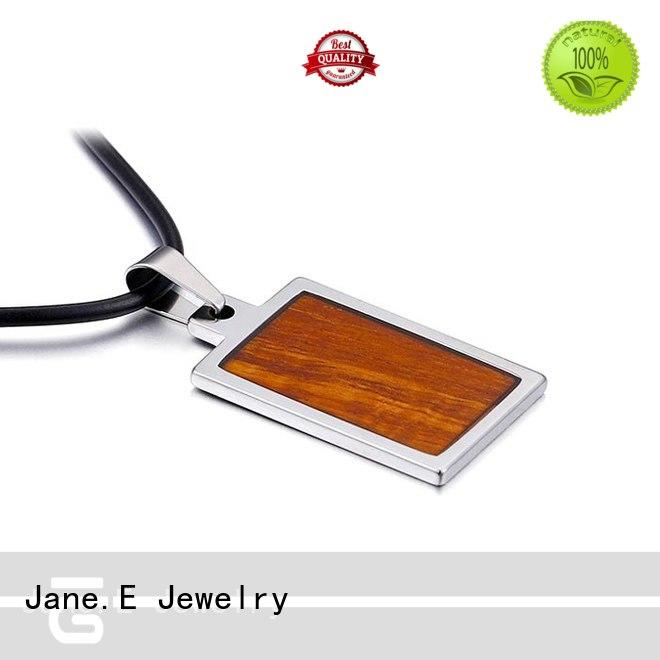 high quality stainless steel pendant for men Silver leather chain for necklace
