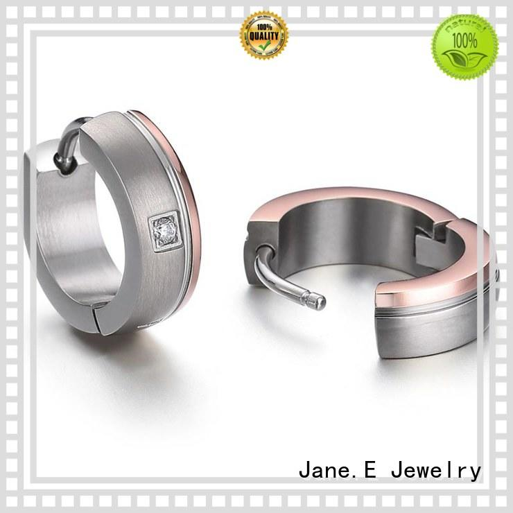 JaneE rainbow titanium jewelry earrings hot selling for gift
