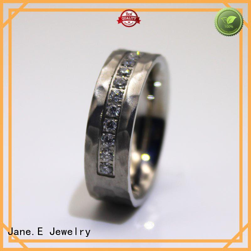 JaneE factory direct steel ring comfortable for decoration