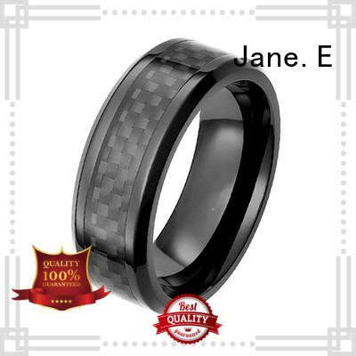 two tones mens black zirconium wedding rings inlay good quality for wedding