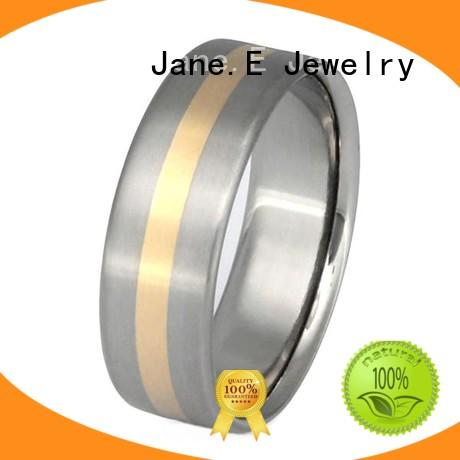 JaneE scratched resistant titanium wedding rings all size for decoration