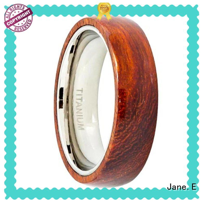 JaneE customized stainless steel ring core all size for wedding